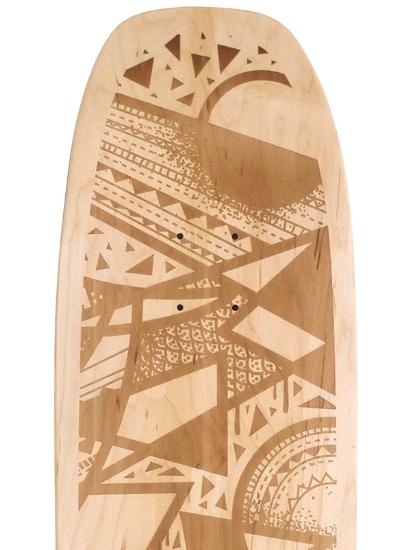 Laser engraved skateboard tim marsh