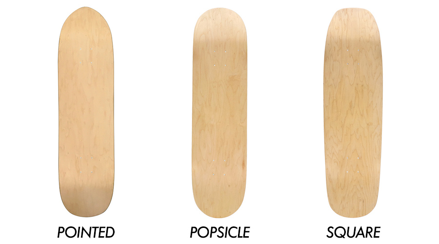 skateboard shapes