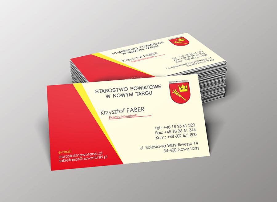 Wykonanie projektu graficznego wizytówki 90x50mm + folia mat 1+0
