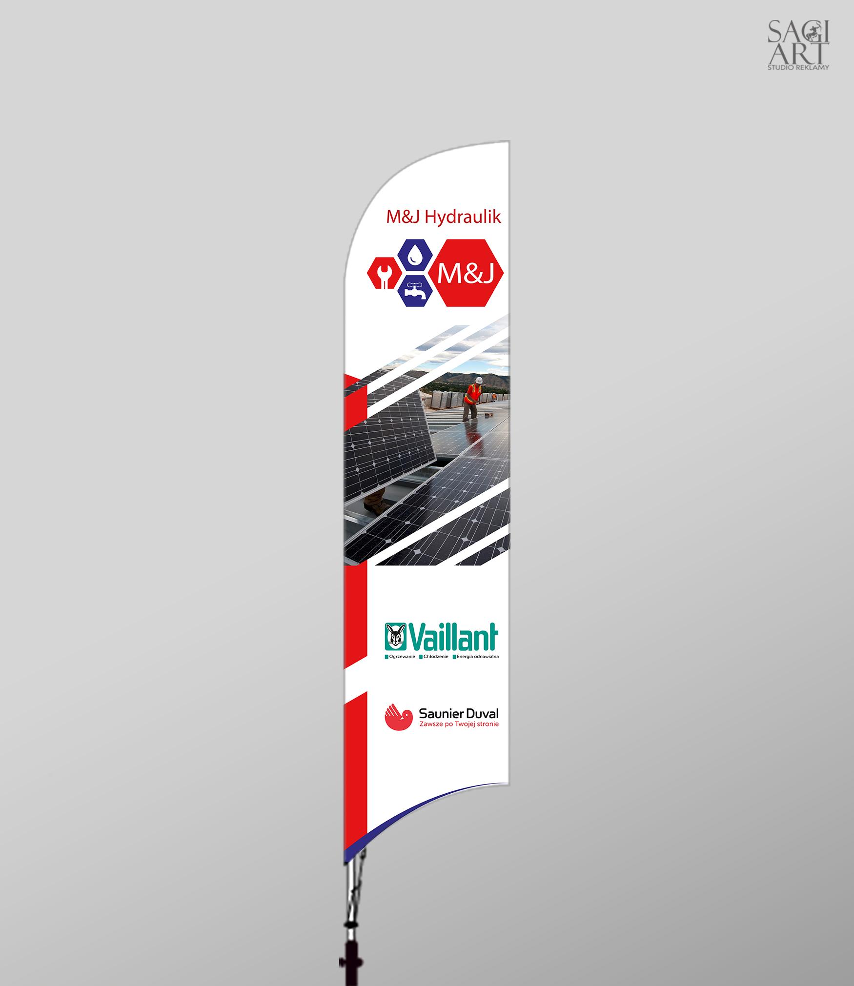 Projekt oraz druk baechflag 260x80cm
