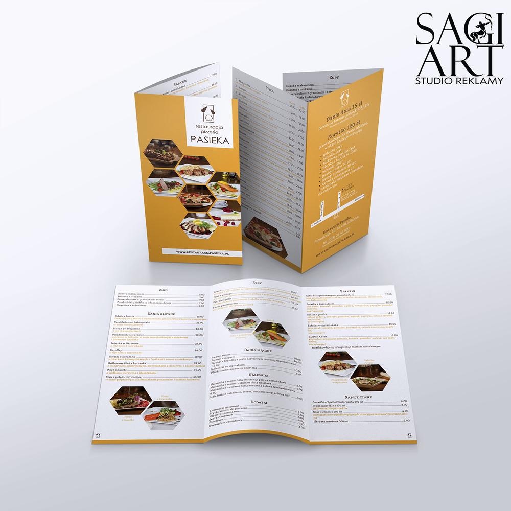 Przygotowanie i druk ulotek składanych A4 do dl. kreda mat 170g