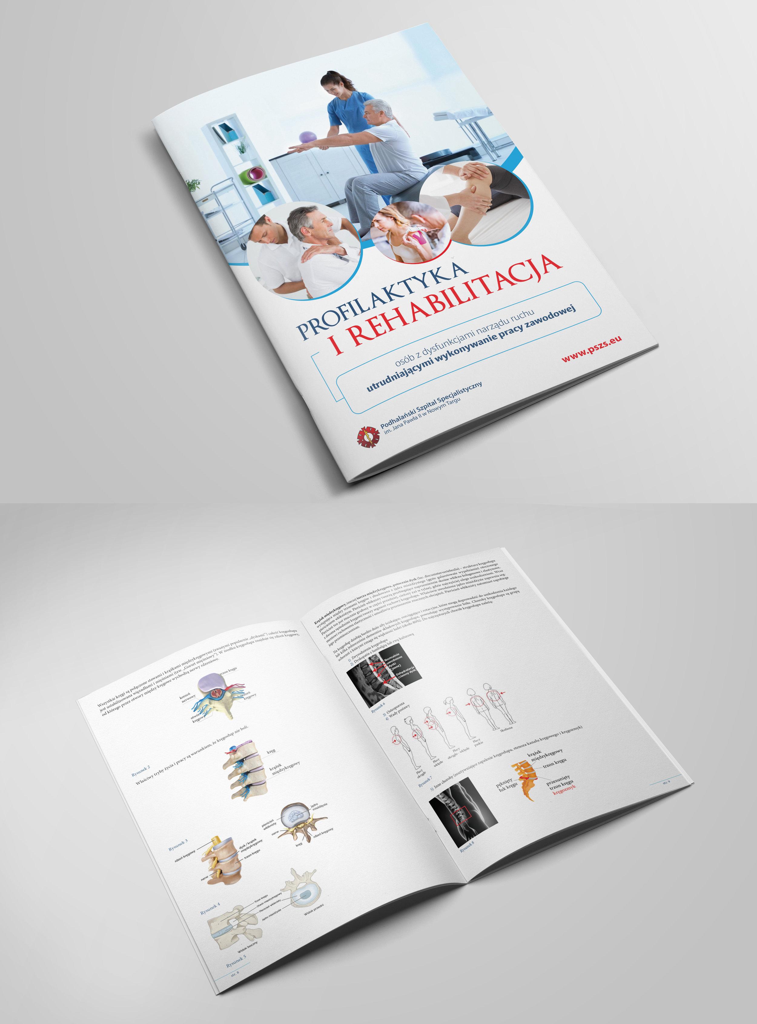 Przygotowanie graficzne i druk katalogów A4. Okładka kreda błysk + folia błysk, środek papier kredowy. szycie zeszytowe