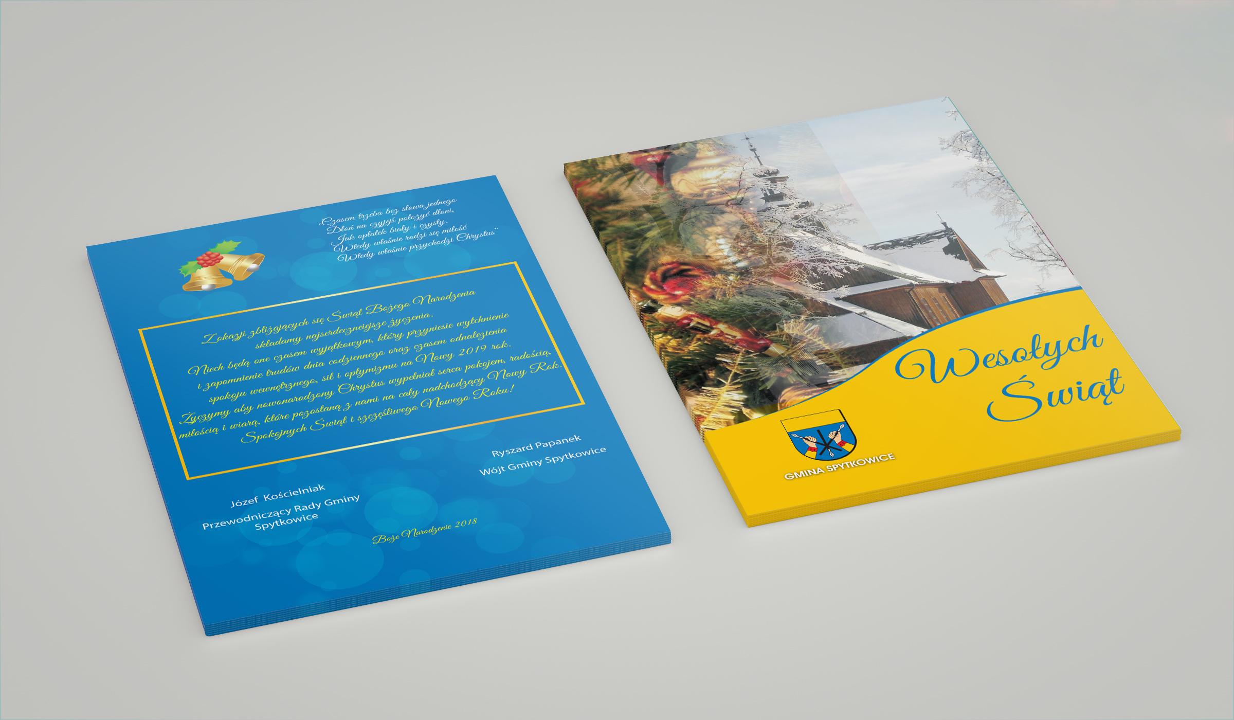 Projekt oraz druk kartki świątecznej