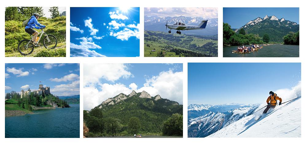 Fotomanipulacja - Przygotowanie okładki kalendarza na podstawie wybranych zdjęć, ich obróbka (wycinanie z tła, zmiana kolorów) oraz wykonanie montażu, a jego efekt poniżej