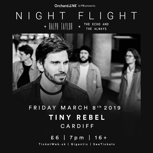 After almost a year off gigging, we're back! Well be supporting @nightflightband at @tinyrebelcardiff on 8 March. We'll be playing some new stuff off our forthcoming album. Come have a Friday with us!