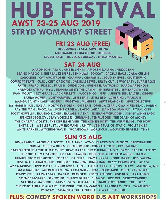 Well heck, looks like we're playing @hubfestivalcardiff this year! We're stoked to be back again, and hope to see you there!