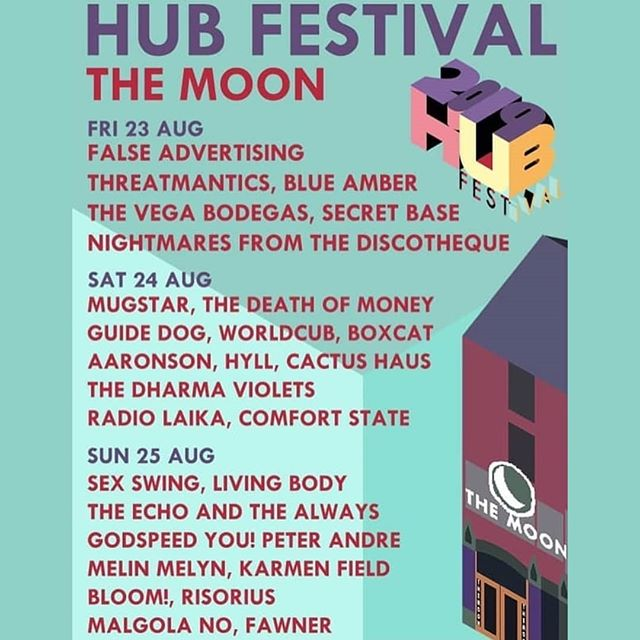 Sunday at @themooncardiff! But also, do all of @hubfestivalcardiff!