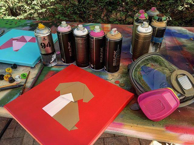 Work in progress-productive day- 100 acrylic percent spray paint for Cali Show TBA  #fineart #contemporaryart #nyc #canvas #graffitiart #streetart #urban #wallart #spraypaint #mural #murals #painting #artwork #artshow #artgallery #modernart #abstract #sculpture #artnews  #dogs  #origami #artcollector #lennyachan visit www.lennyachan.com