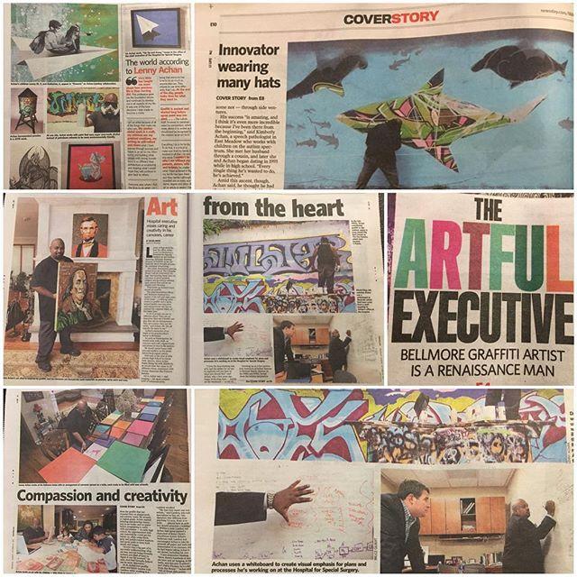 Great coverage @Newsday - thanks again! #fineart #contemporaryart #nyc #canvas #graffitiart #streetart #urban #wallart #spraypaint #mural #murals #painting #artwork #artshow #artgallery #modernart #abstract #sculpture #artnews  #dogs  #origami #artcollector #lennyachan visit www.lennyachan.com