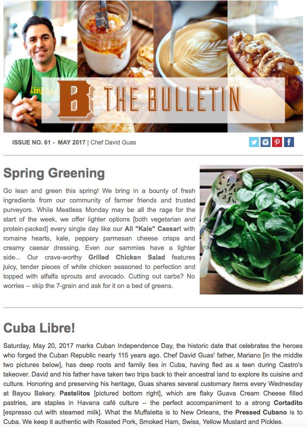 May 2017 Bulletin [Click to Read Full Version]