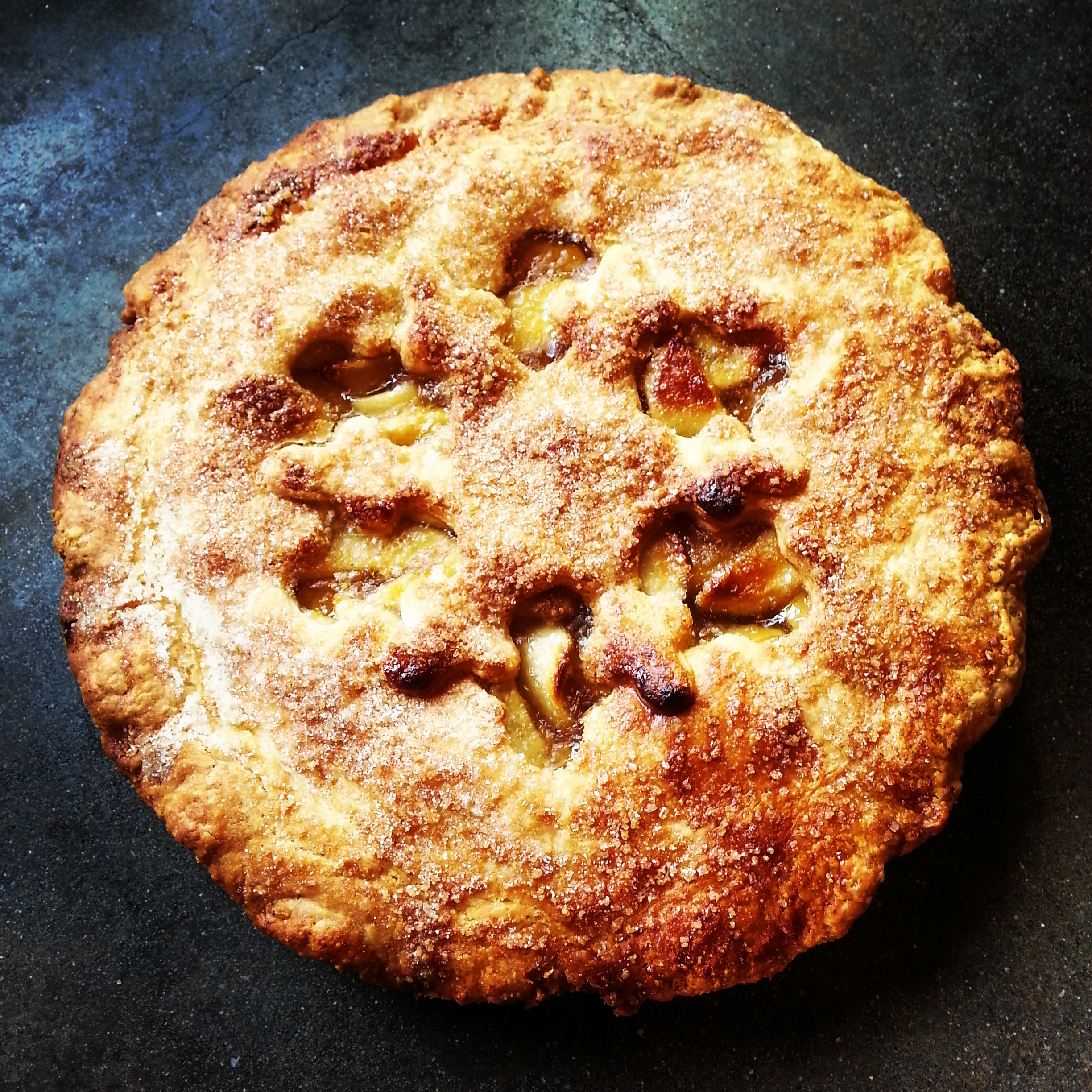Apple cider pie with a snowflake cutout.jpg