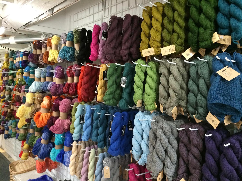 Maine Yarn & Fiber Supply, before the move upstairs