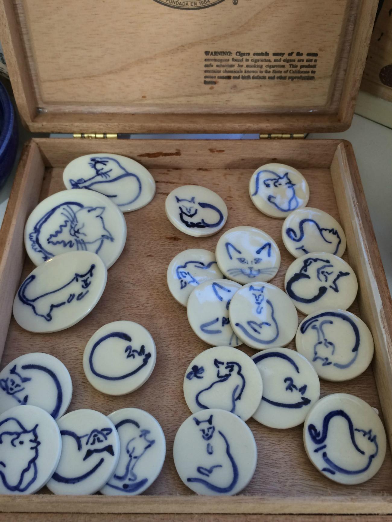 Betty Jean Wilcox buttons & yarn bowls
