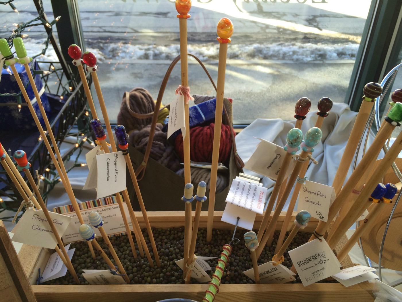 shipyard glass knitting needles
