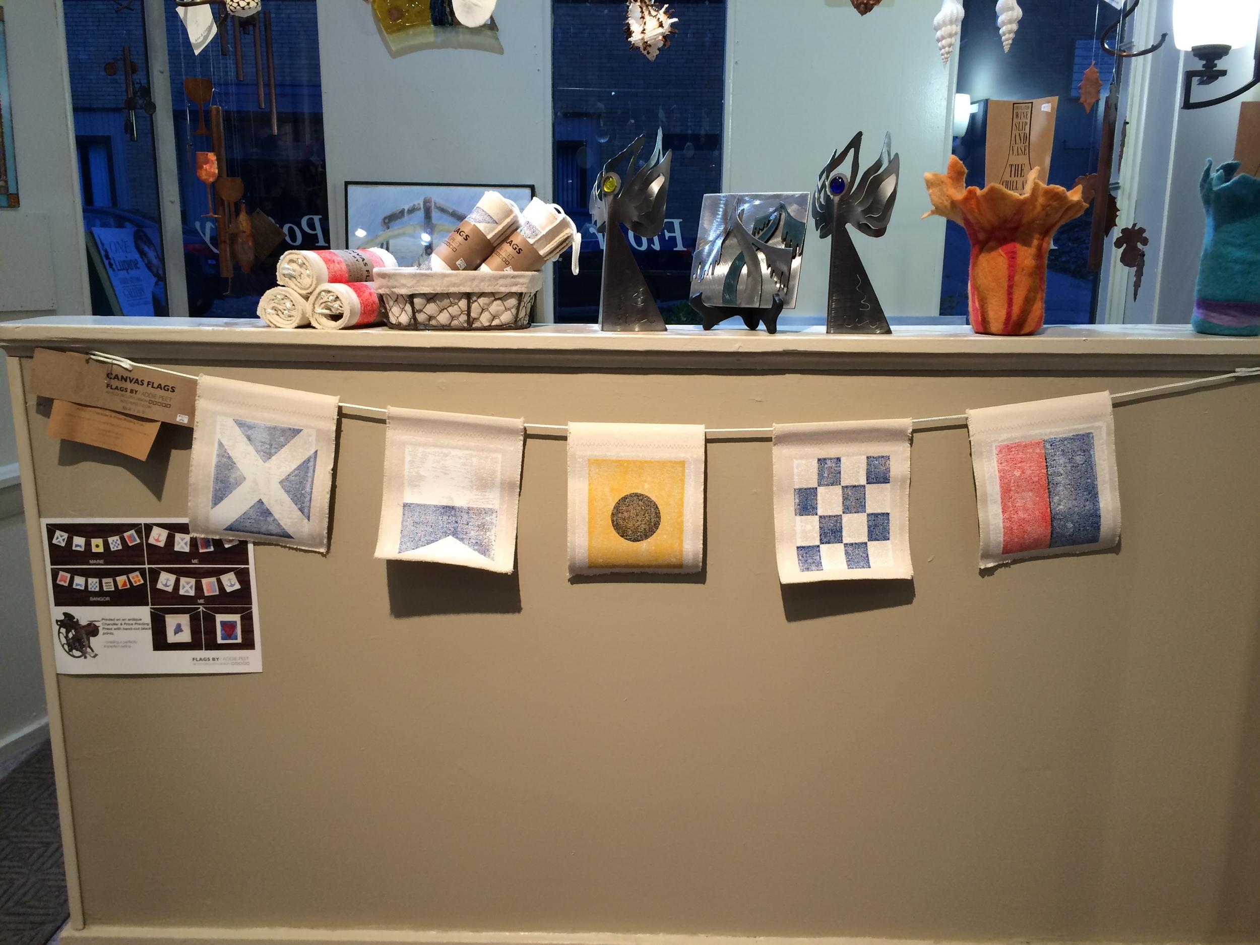 nautical signal flags by addie peet (this one spells m-a-i-n-e)