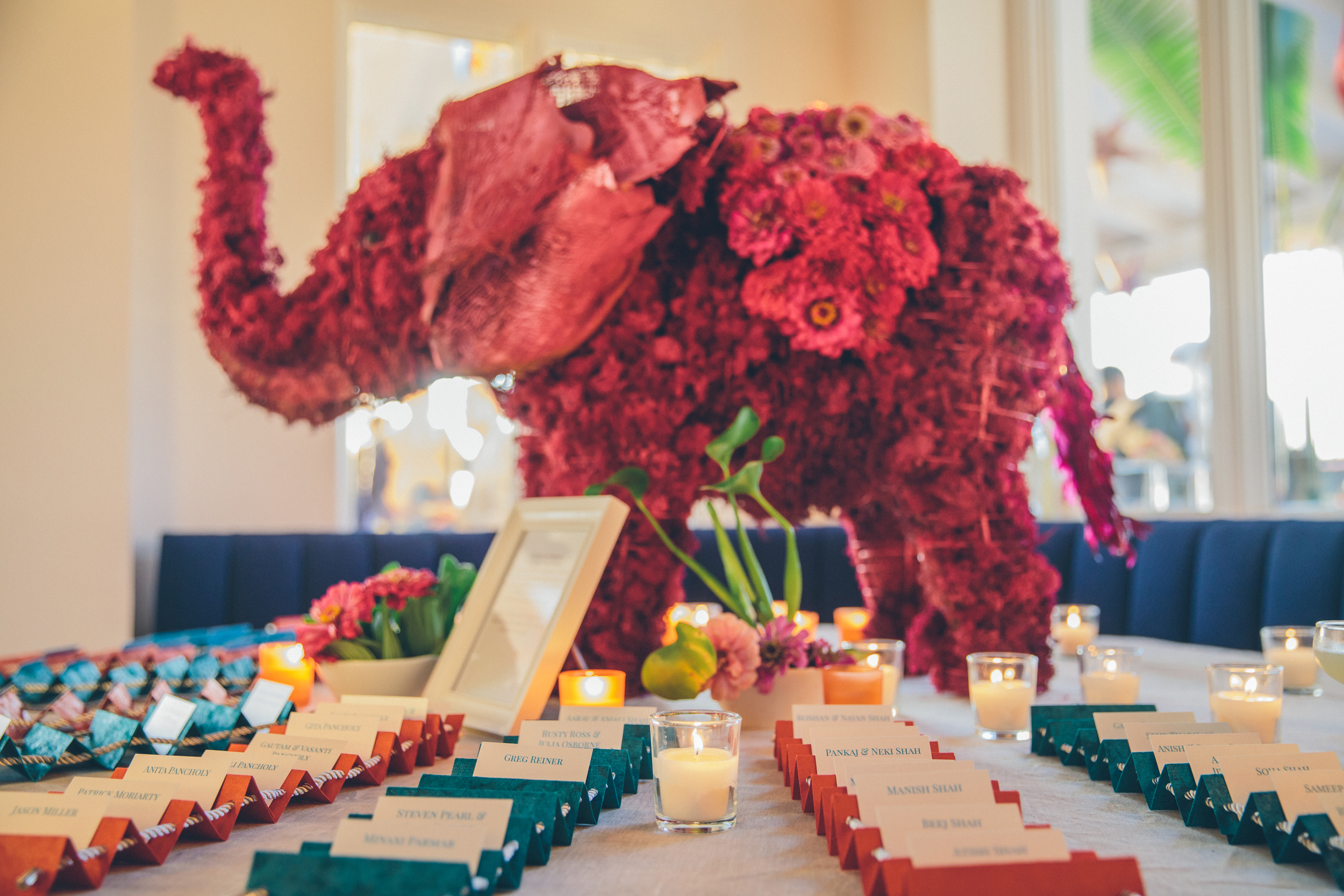 Indian Theme Wedding Escort Table