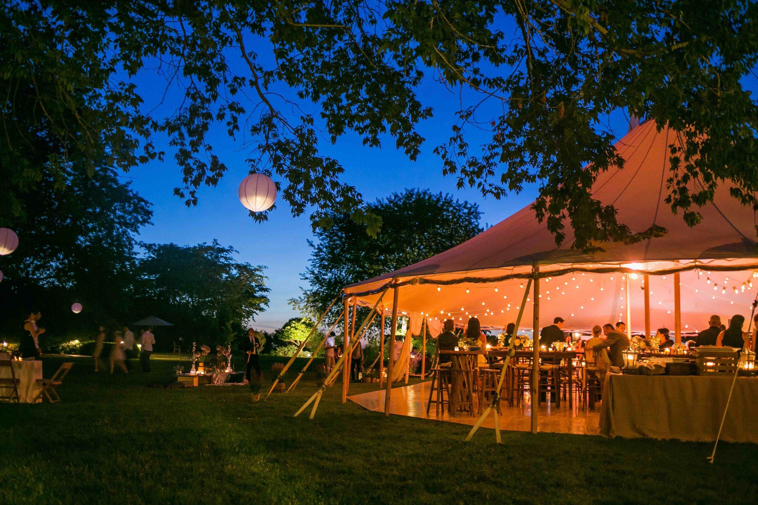 Hamptons Wedding Tent at Gansett Green Manor