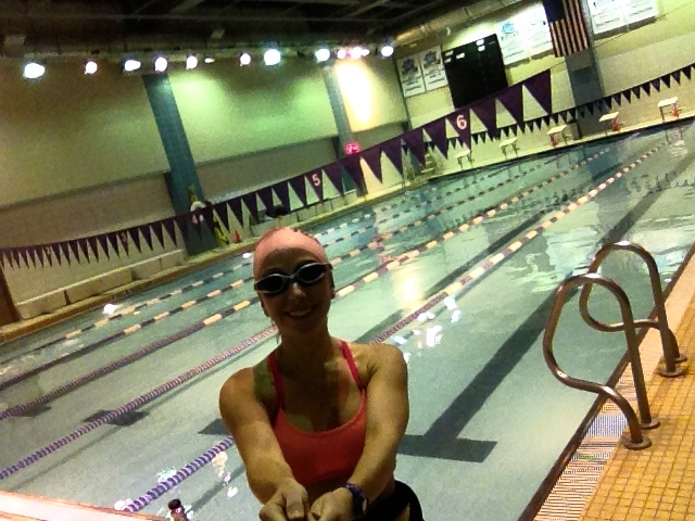 Silly looking swimmer named BForge