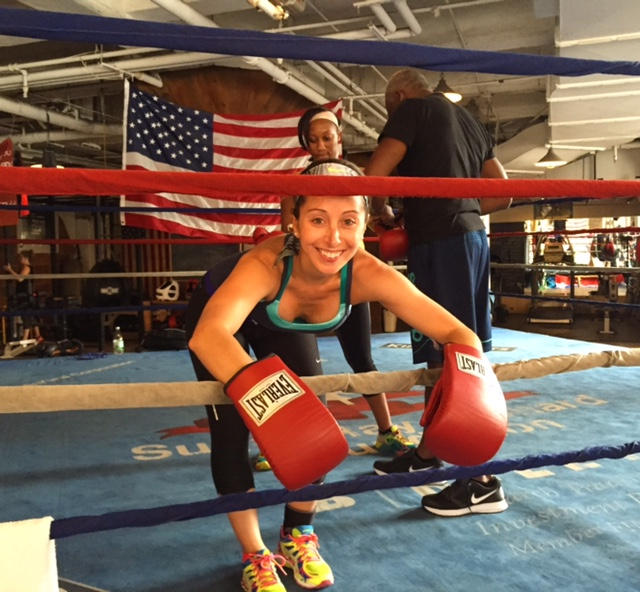 Enterting the ring at Trinity Boxing in NYC!