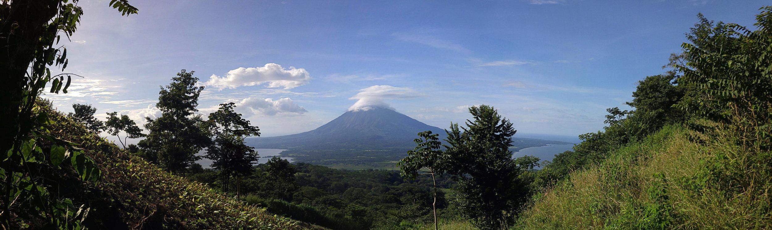 View of Conceptión Volcano, Maderas Volcano Hike