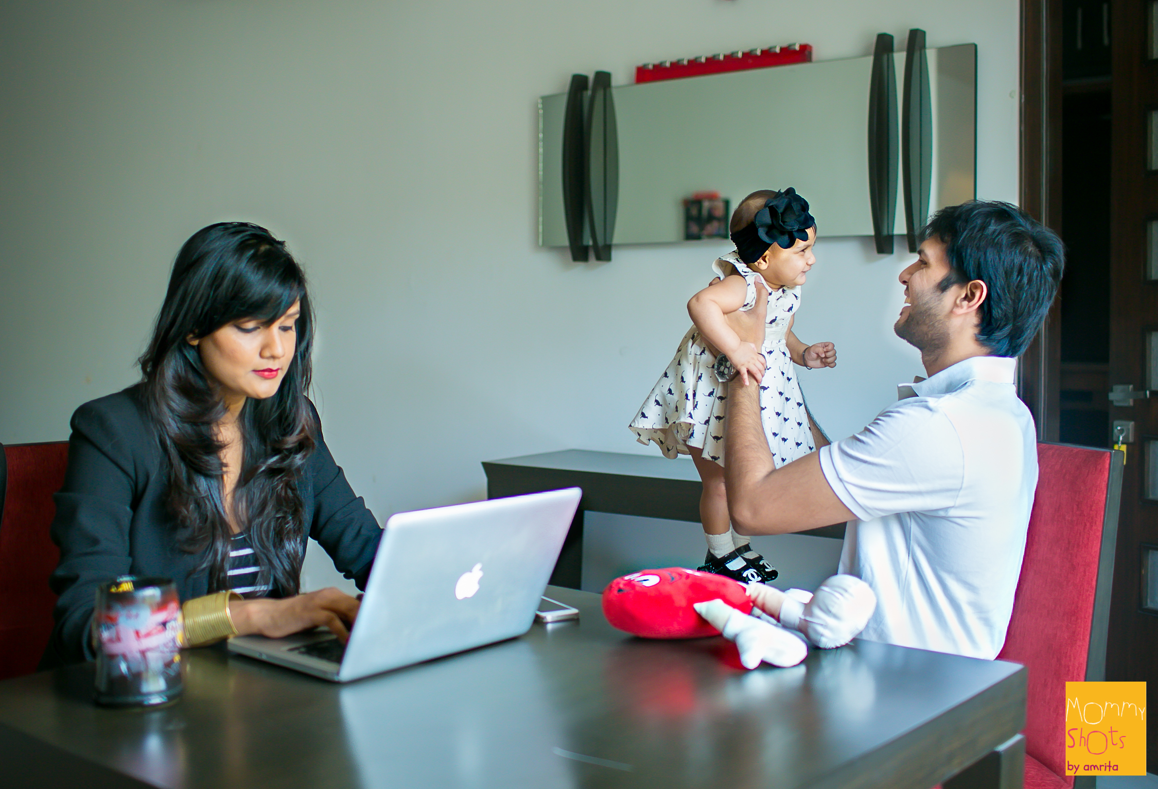 Watching Ankit be the best dad he can be the last 6 months has been special and pleasantly surprising! Ankit encouragedher to get back to work by sharing Shanyraa's responsibilities equally, while handling his own busy career.