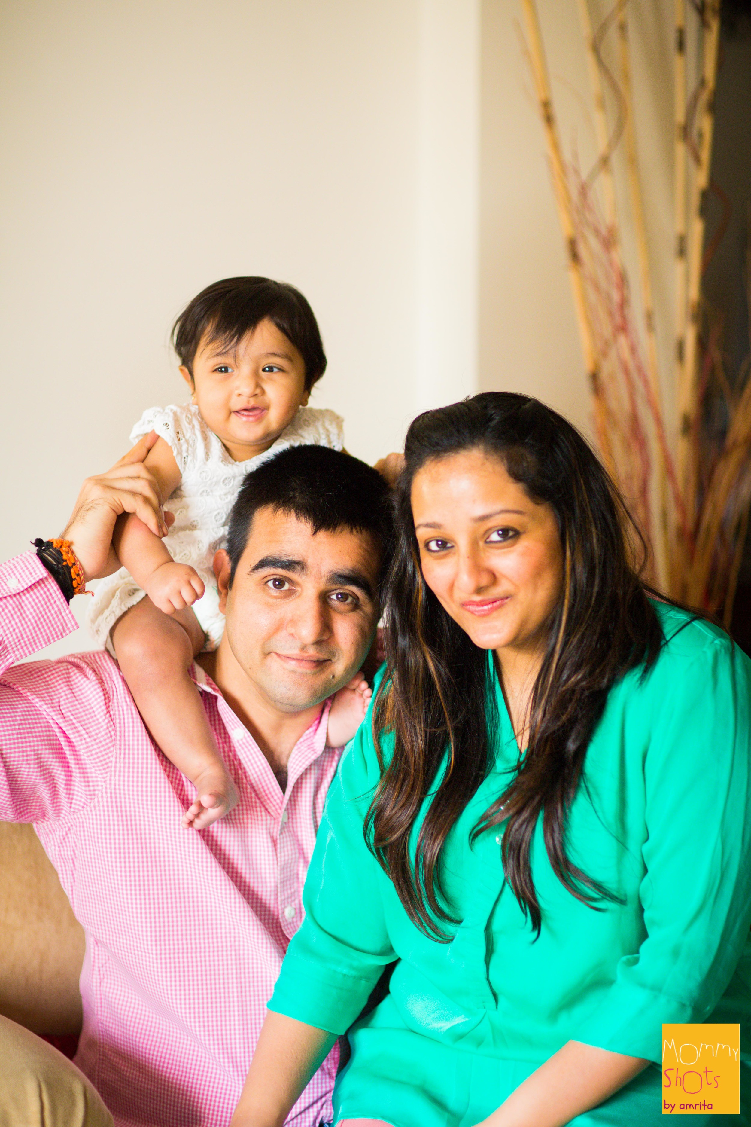 A pilot by profession, Sashank makes the most of his time with his little girl Saleena when he is home. Tushita is a stay-at-home mum, by choice, which ain't no easy feat! Sashank whole-heartedly insists that she takes some 'me-time' off when he is around and does what every stay-at-home mum can do, without a doubt!