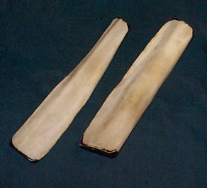 Benklappere/bones/snatterpinnar (traditionelle irske). Traditional Irish bones