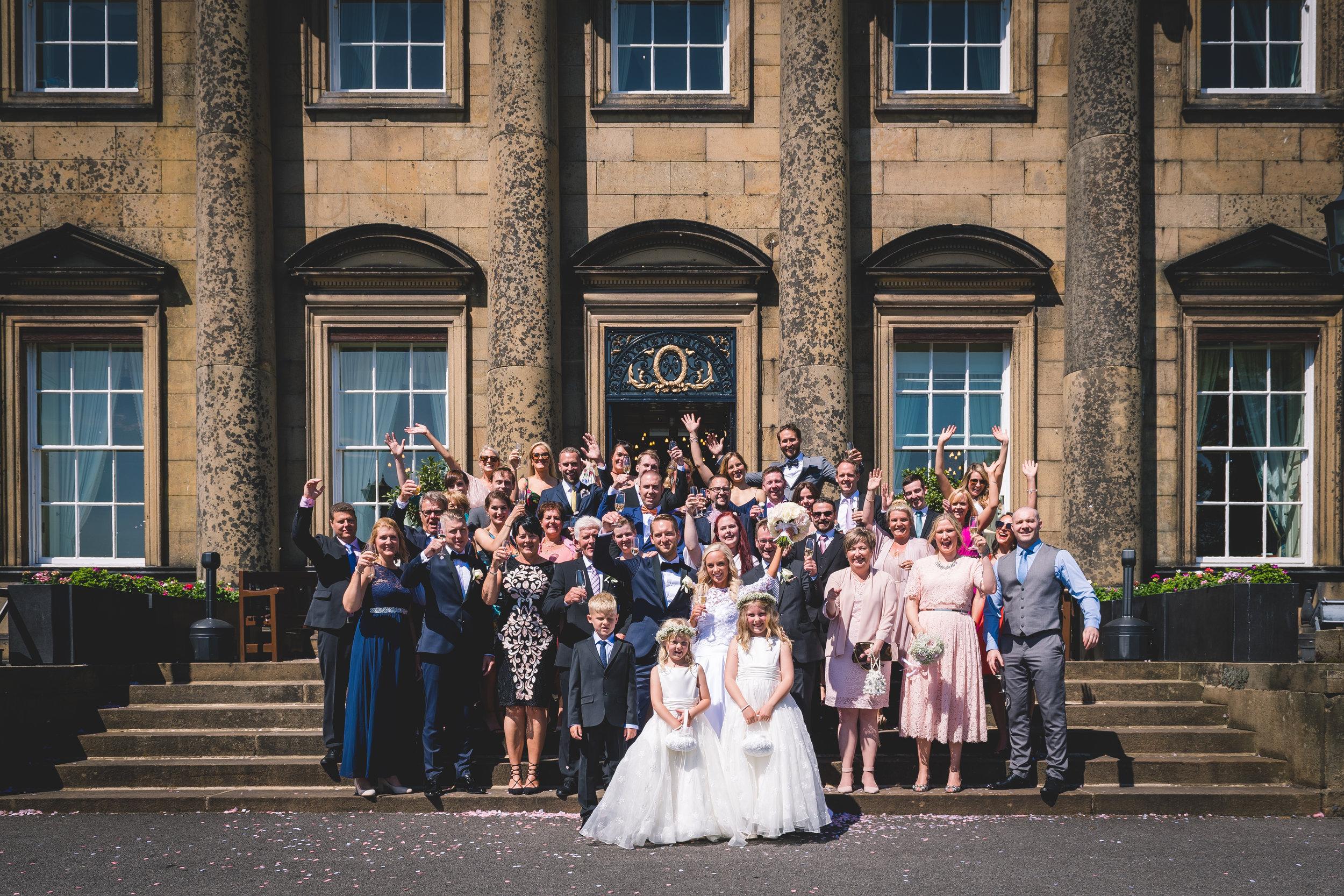 Denton Hall Family Wedding Photo