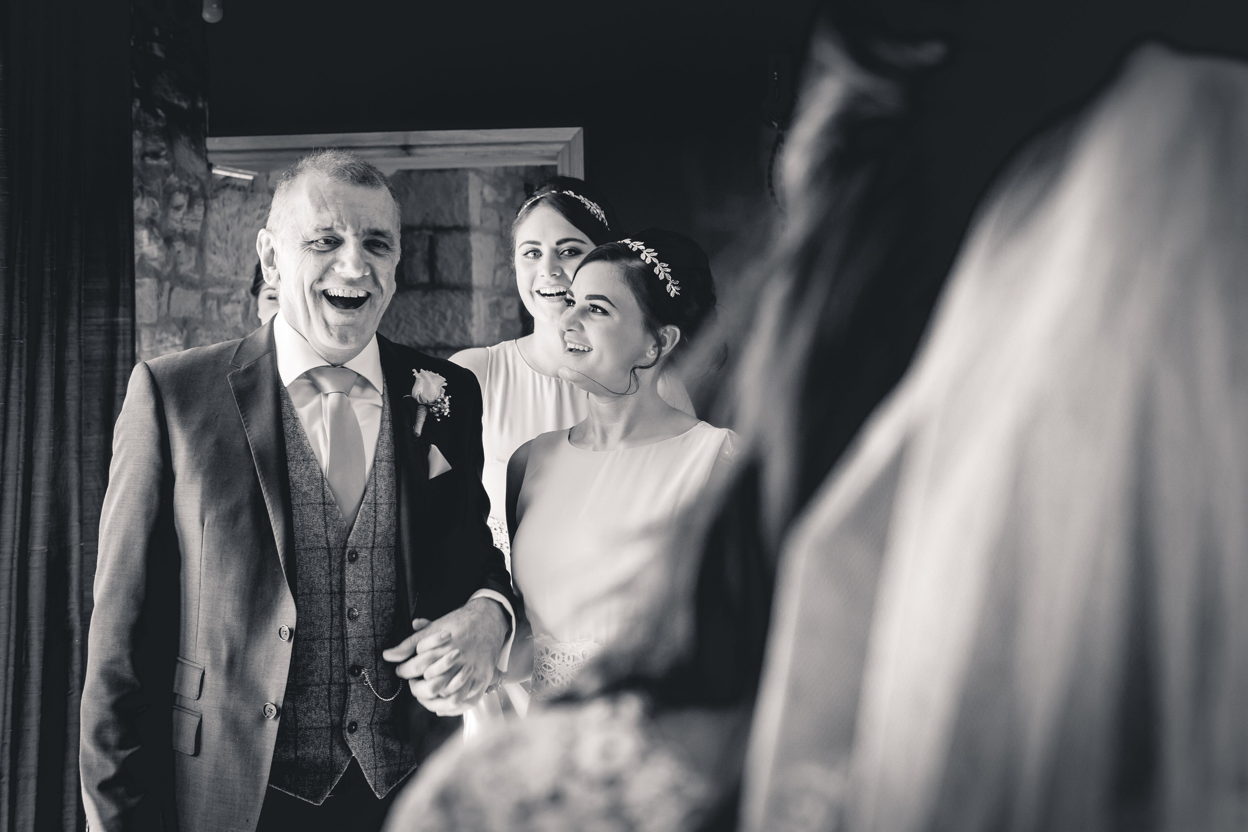 Father of the Bride first look at The Yorkshire Wedding Barn