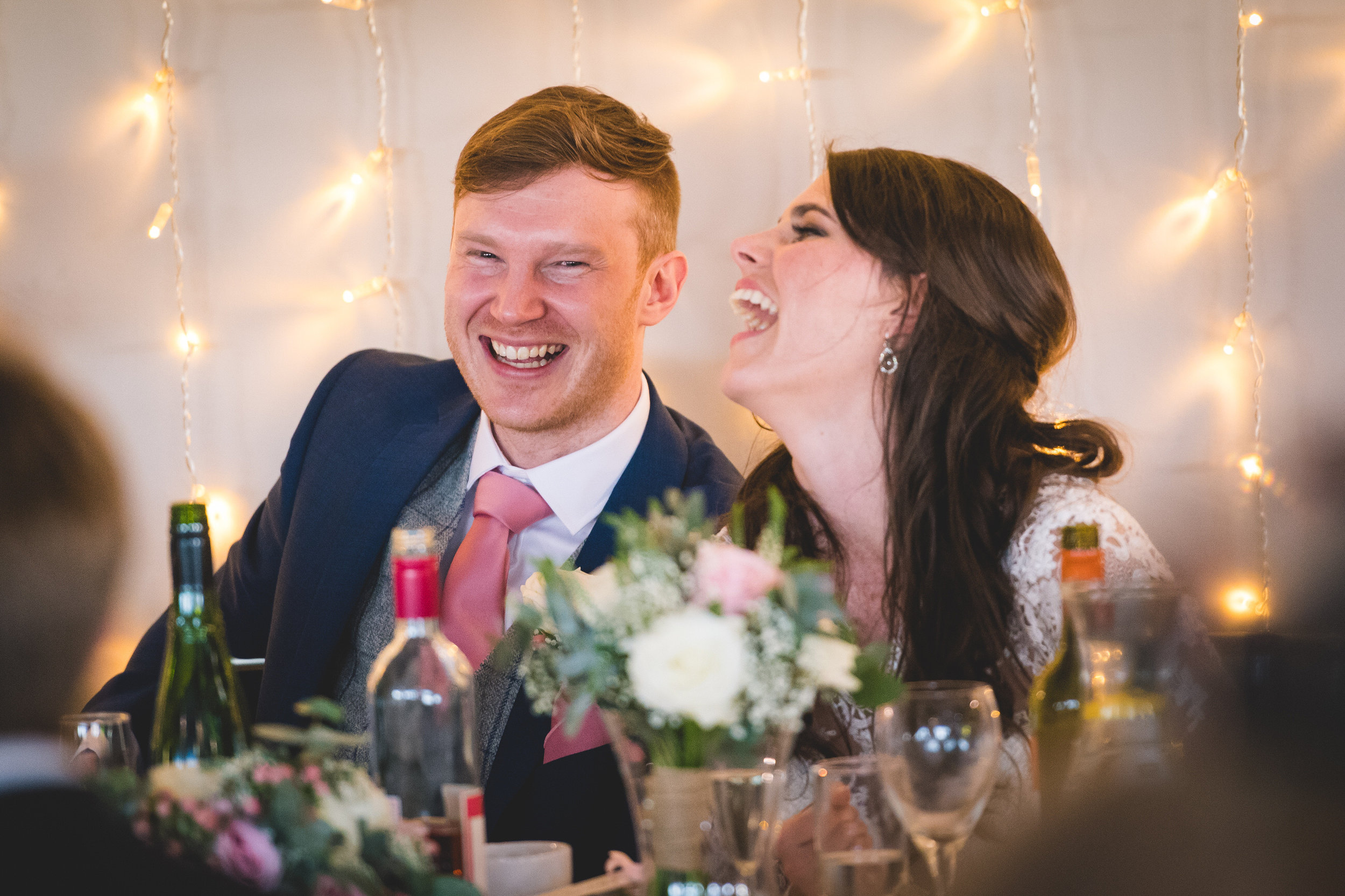 Laughter at The Yorkshire Wedding Barn