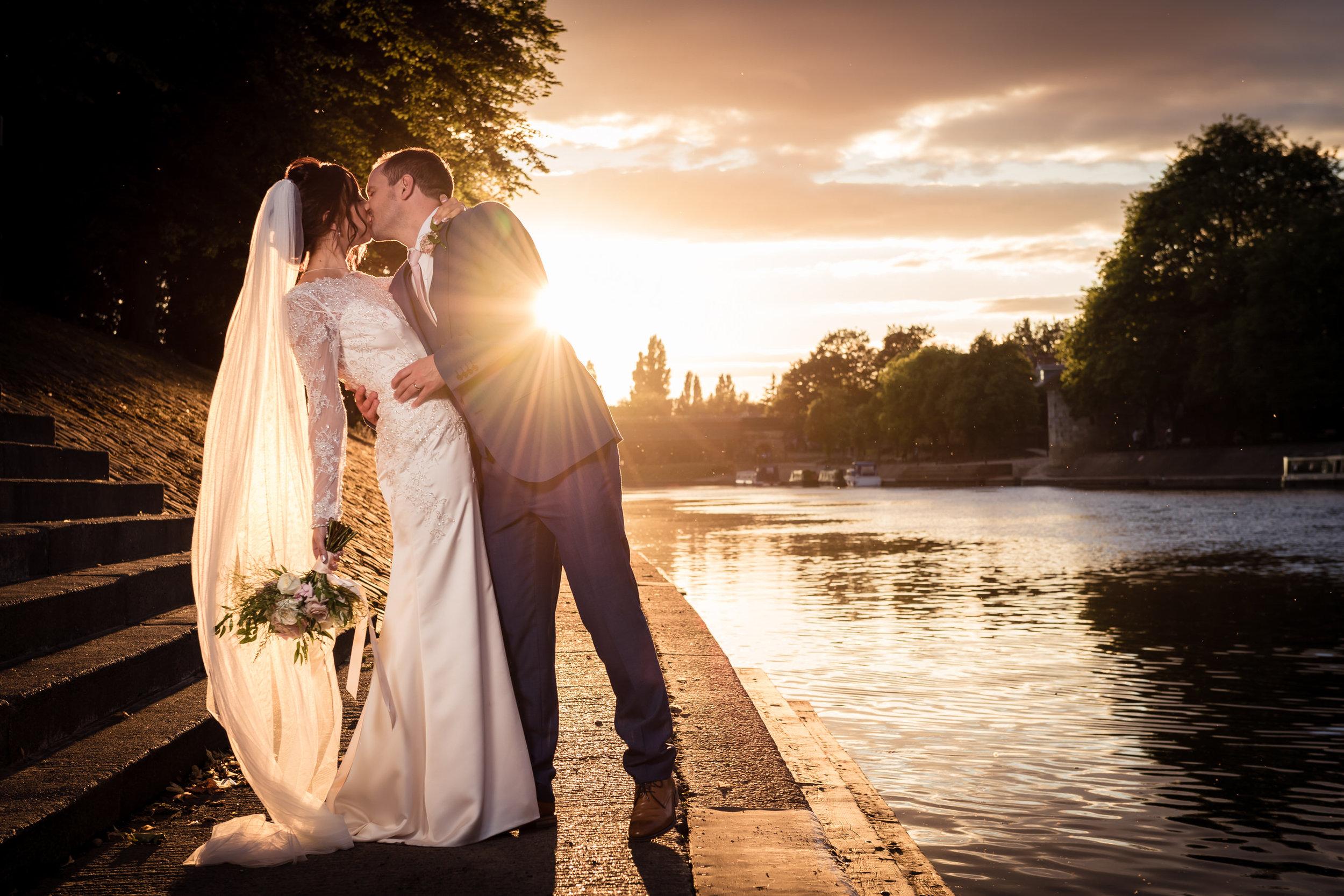 Sunset in York Wedding