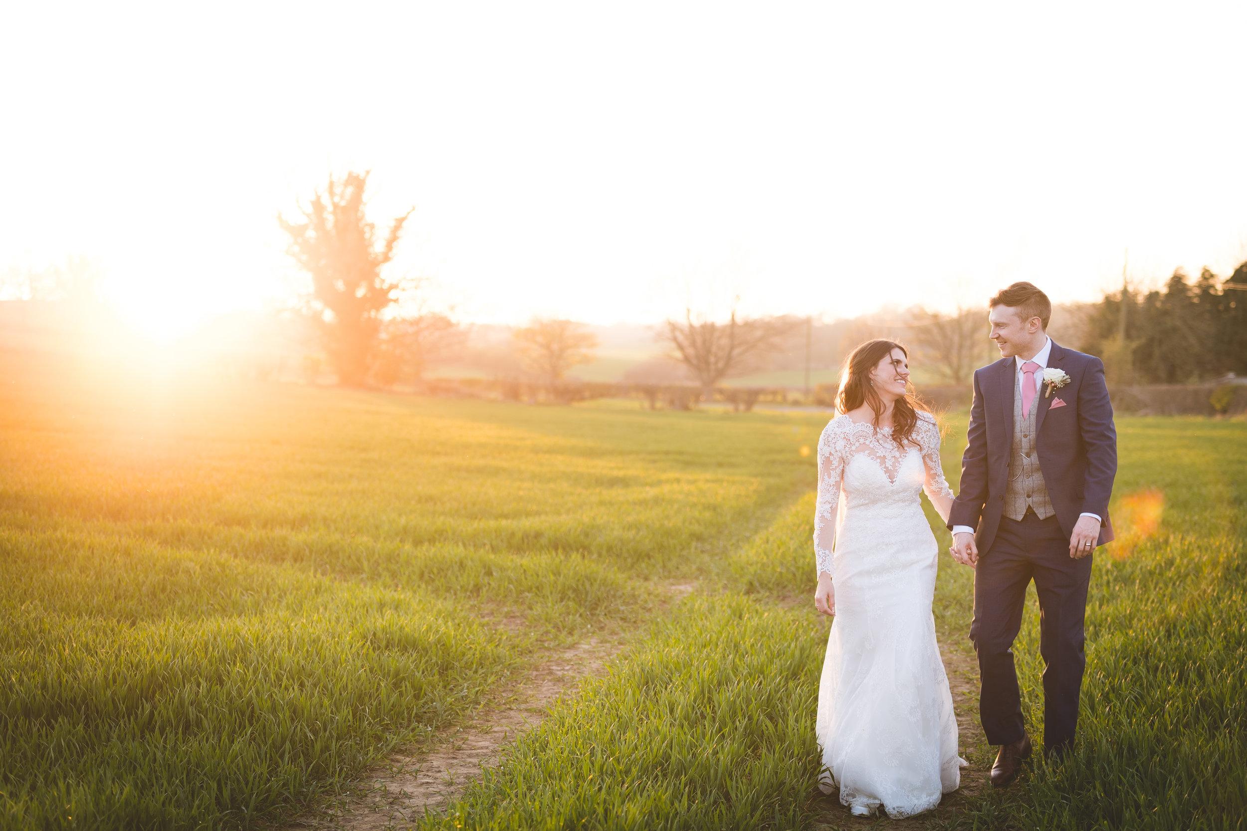 The Yorkshire Wedding Barn at Sunset