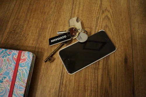 Keys, gym fob & my iPhone 5s