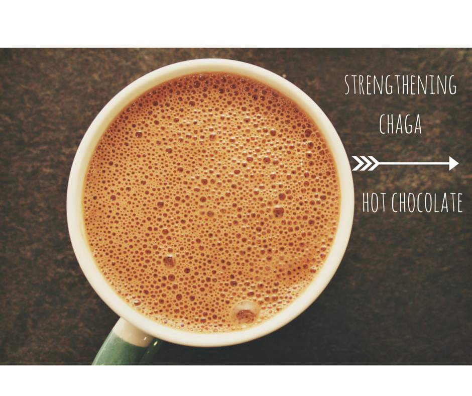 Chaga hot chocolate