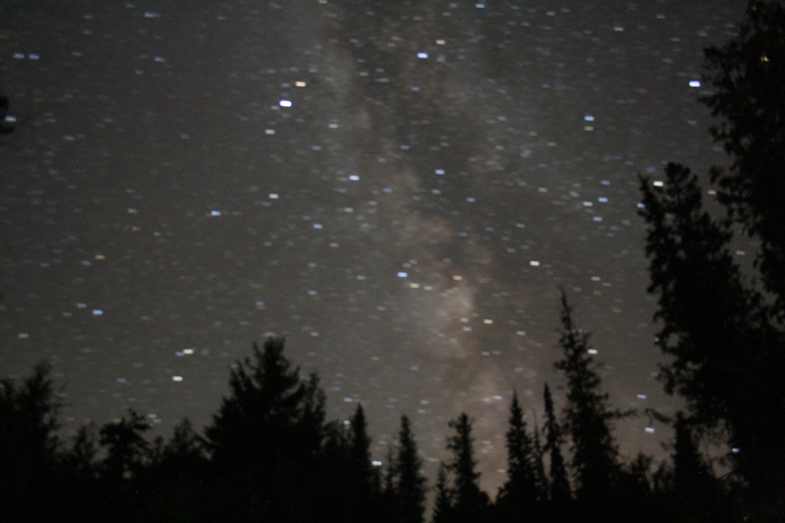 Blurry long exposure at Johnson Lake, BC