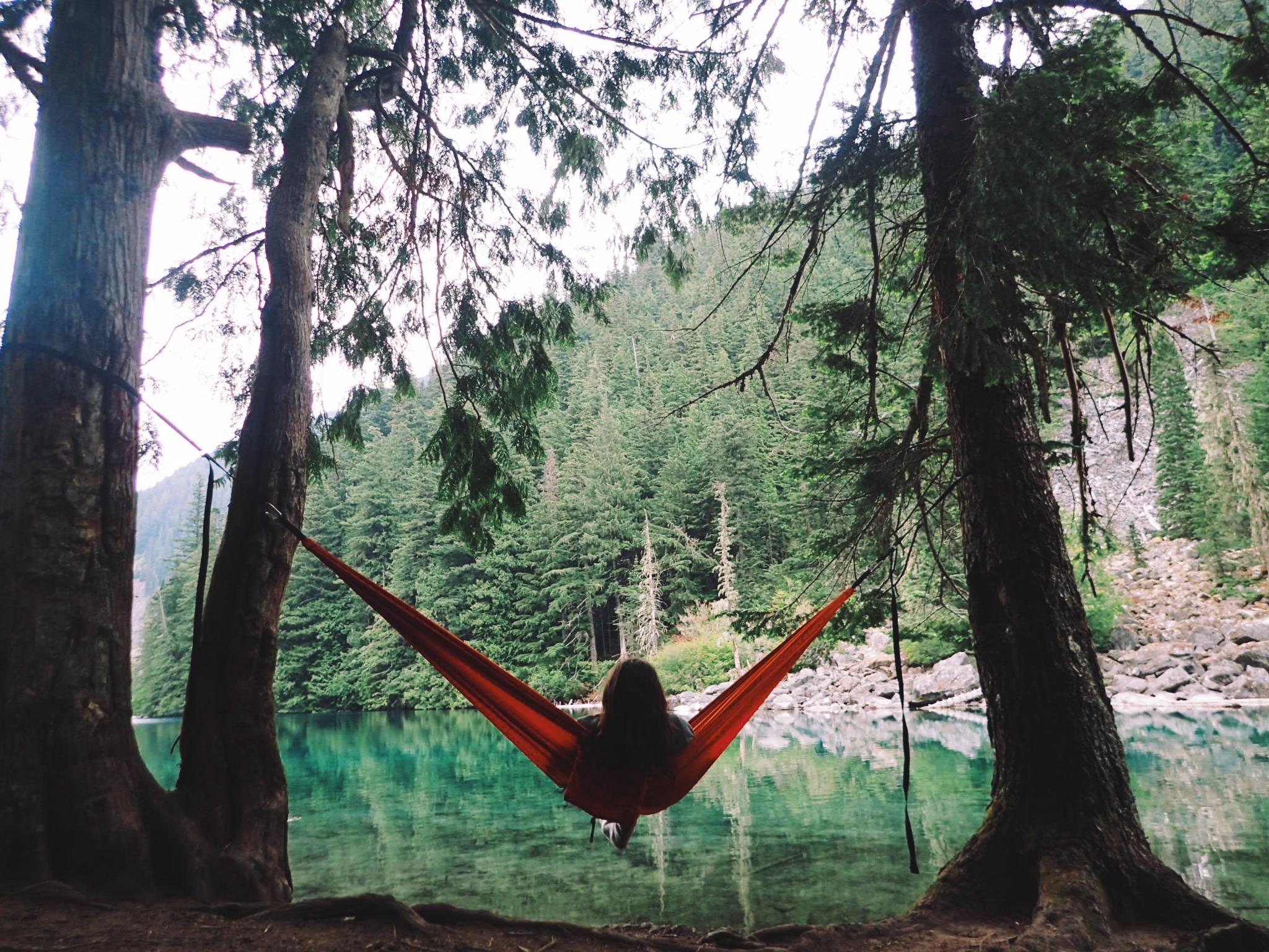 Relaxing in my thermarest slacker hammock