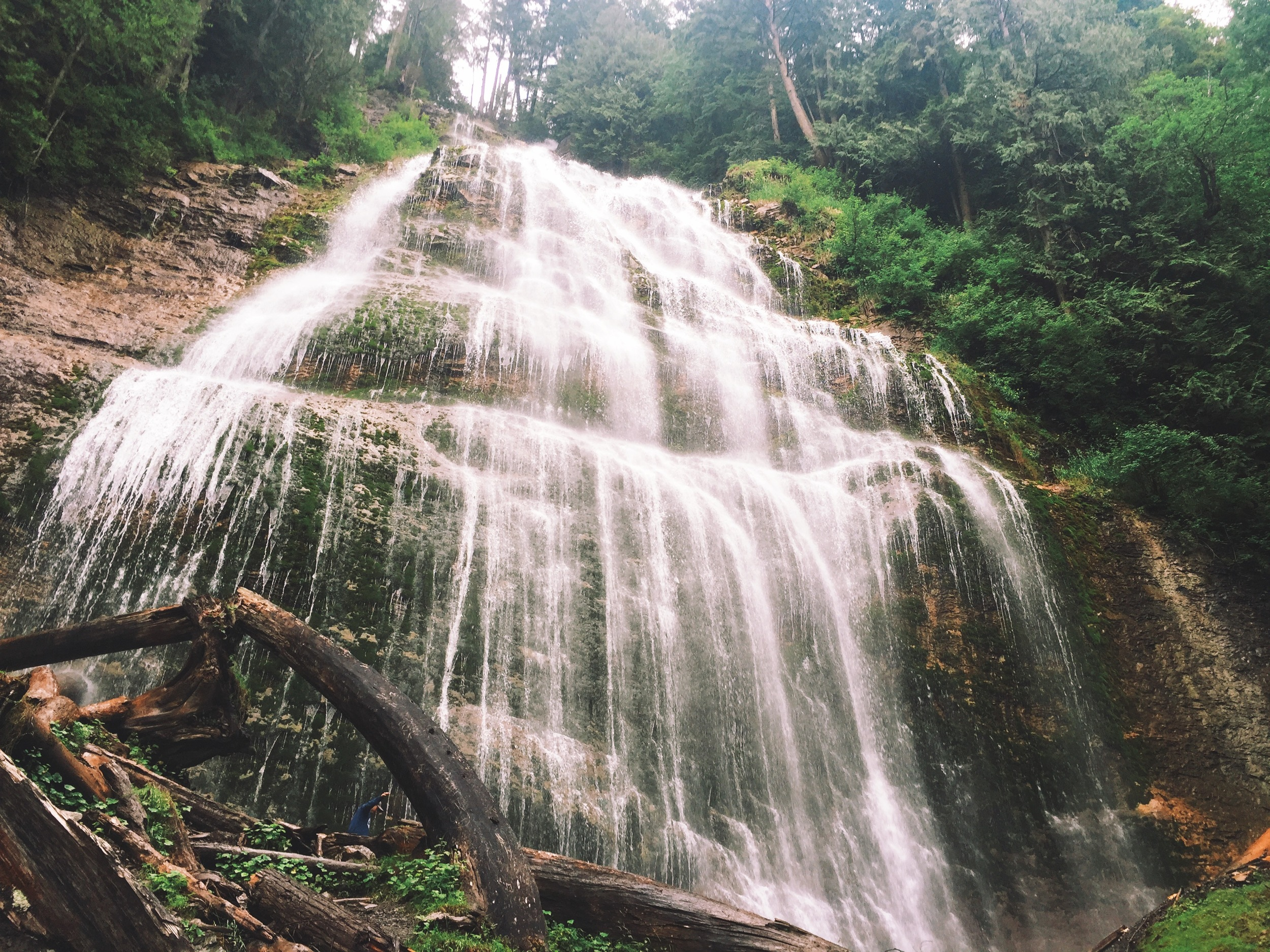 Bridal Falls - Just outside of Chilliwack, BC - Can you spot Luca?