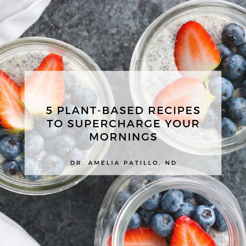 5 plant based recipes to supercharge your mornings