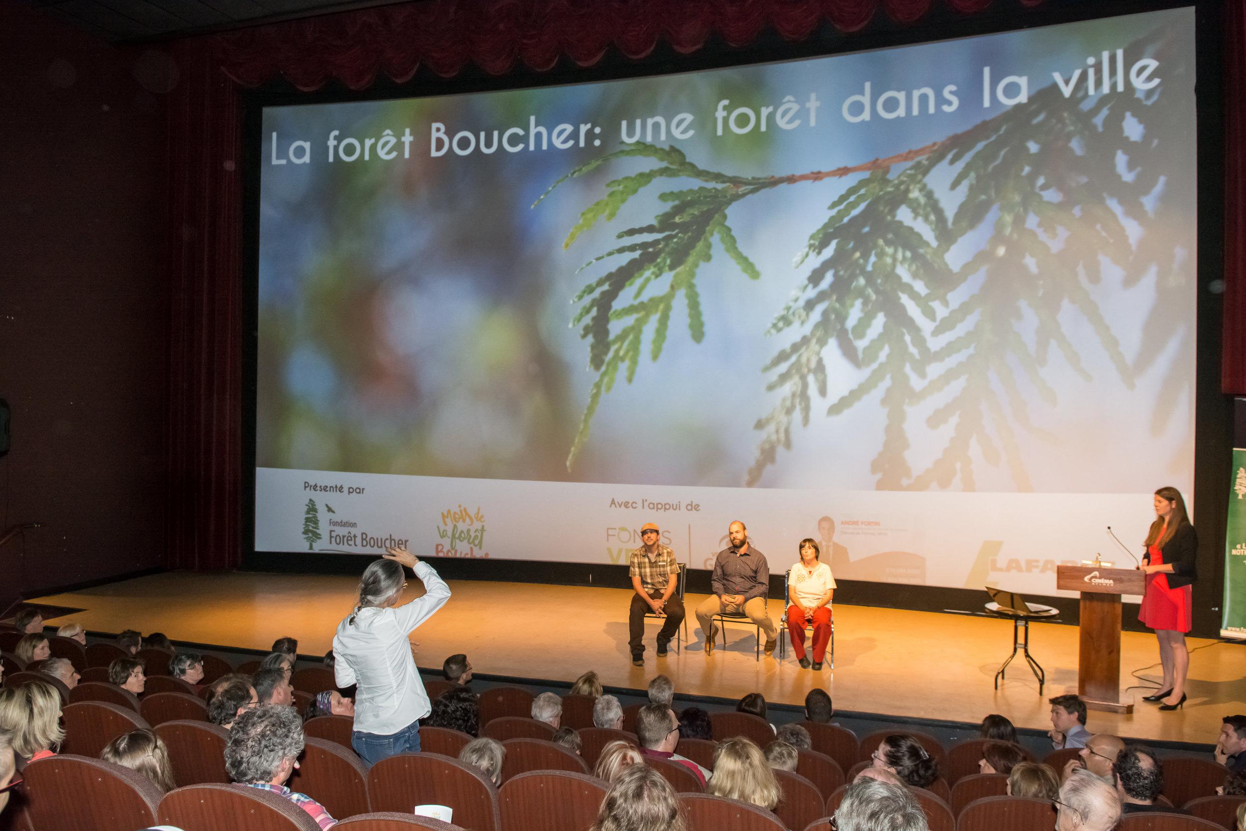 La forêt Boucher fait salle comble  Communiqué du 11-09-2017