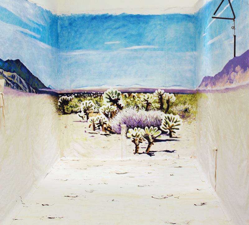Acrylic on canvas, 24' x 8.5'