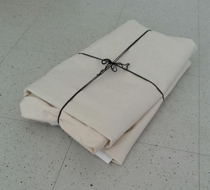 Walliecamp folds for easy transport.