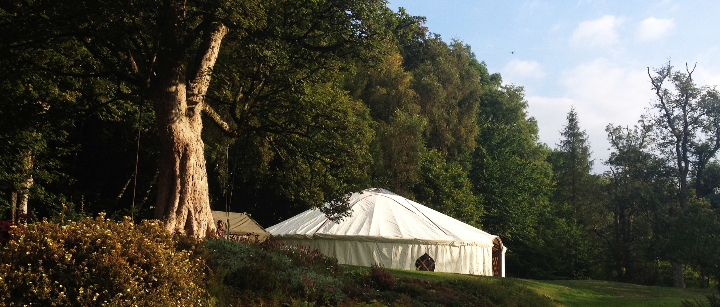 36ft wedding yurt.