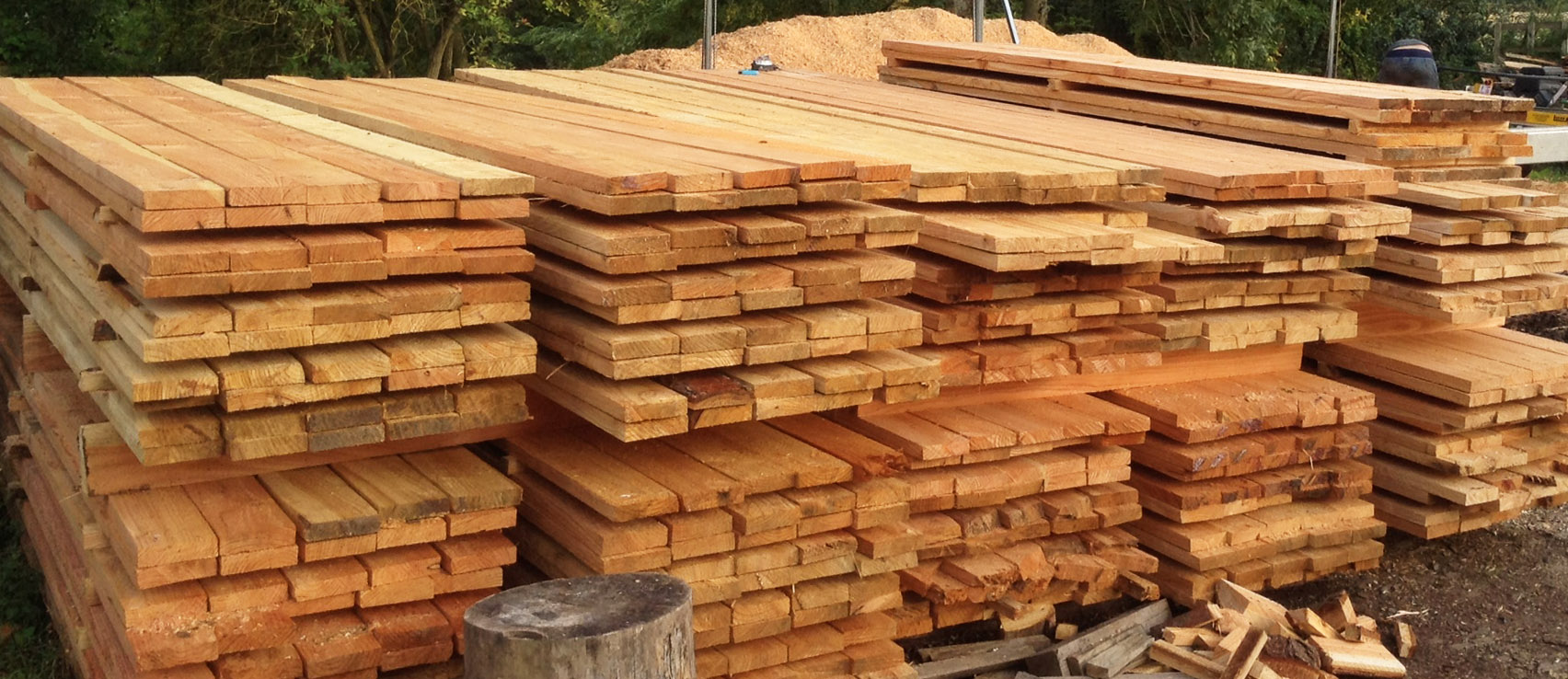 Sawn Larch ready for delivery.