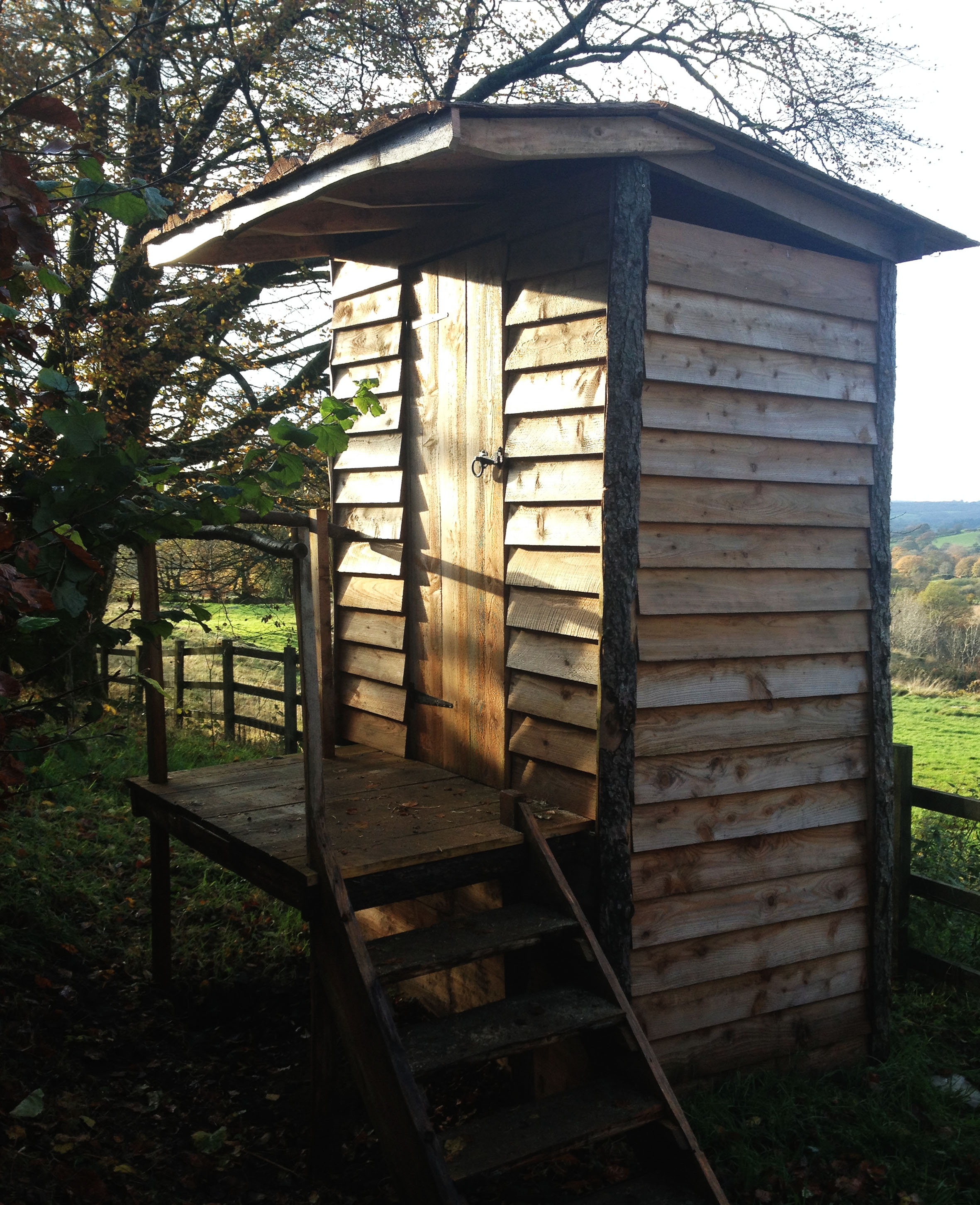 Compost loo for eco-campsite