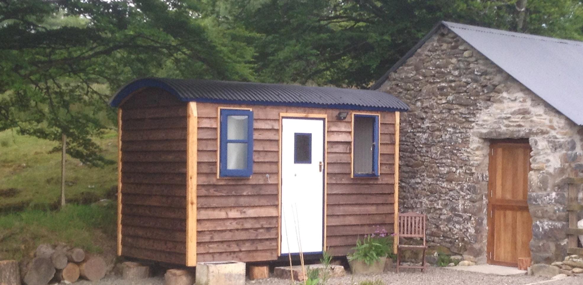 Eco-campsite shower wagon.