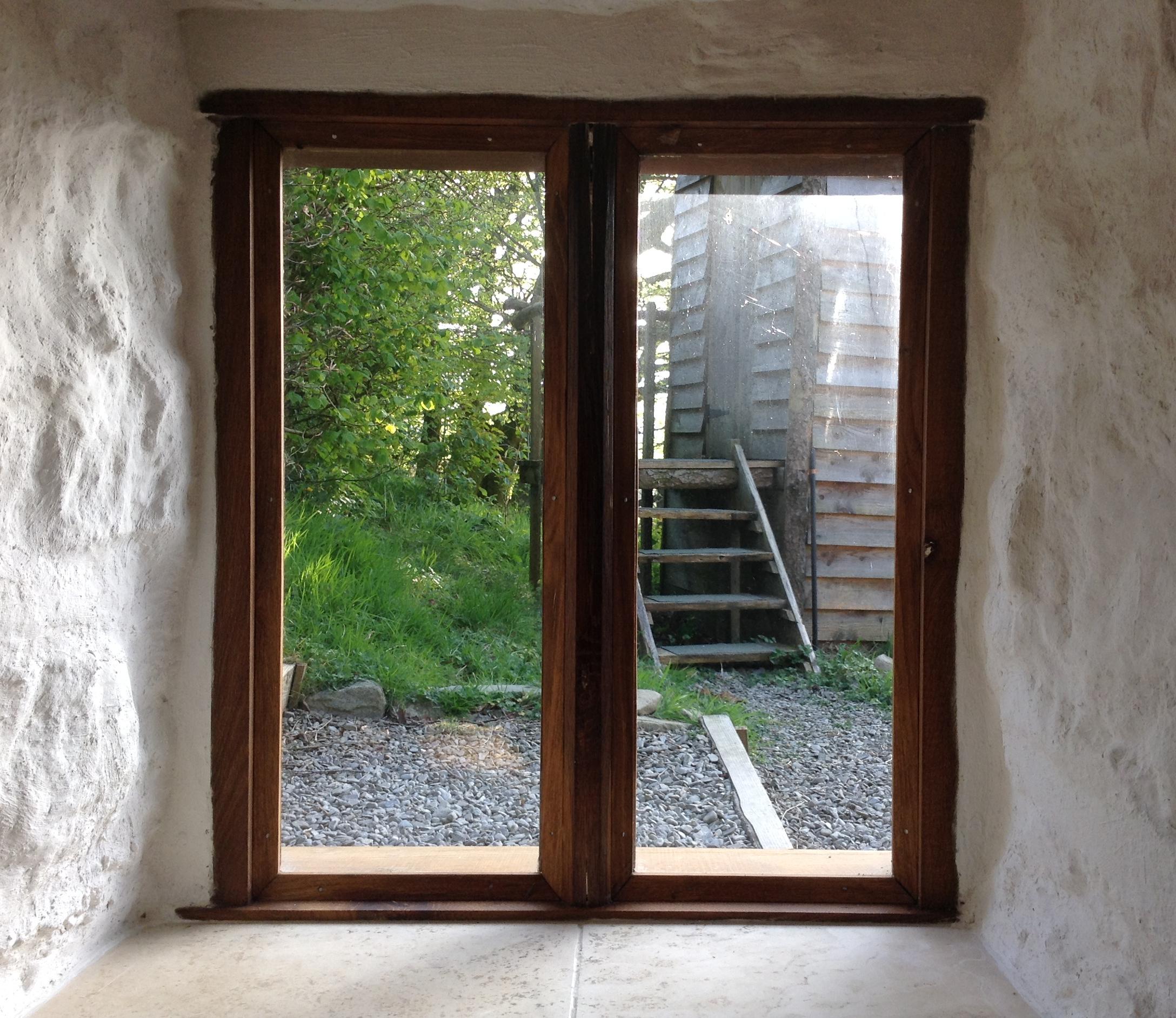 Oak window, Wales.