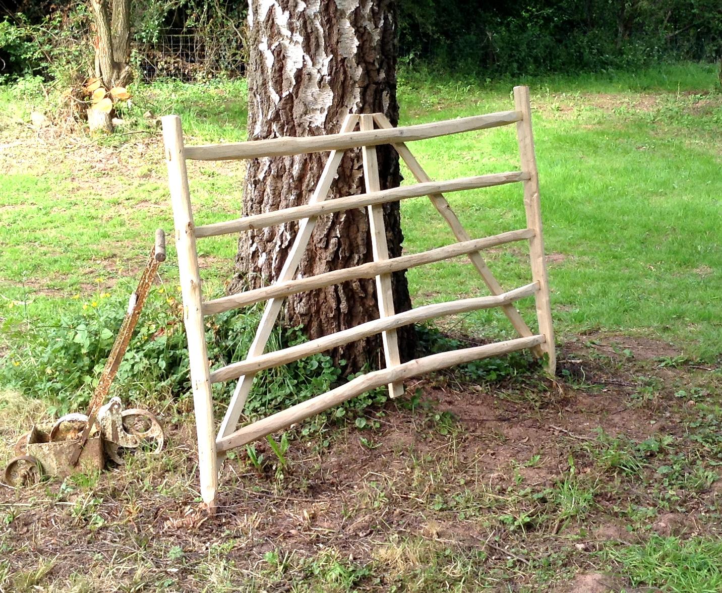 Cleft chestnut gate hurdle.