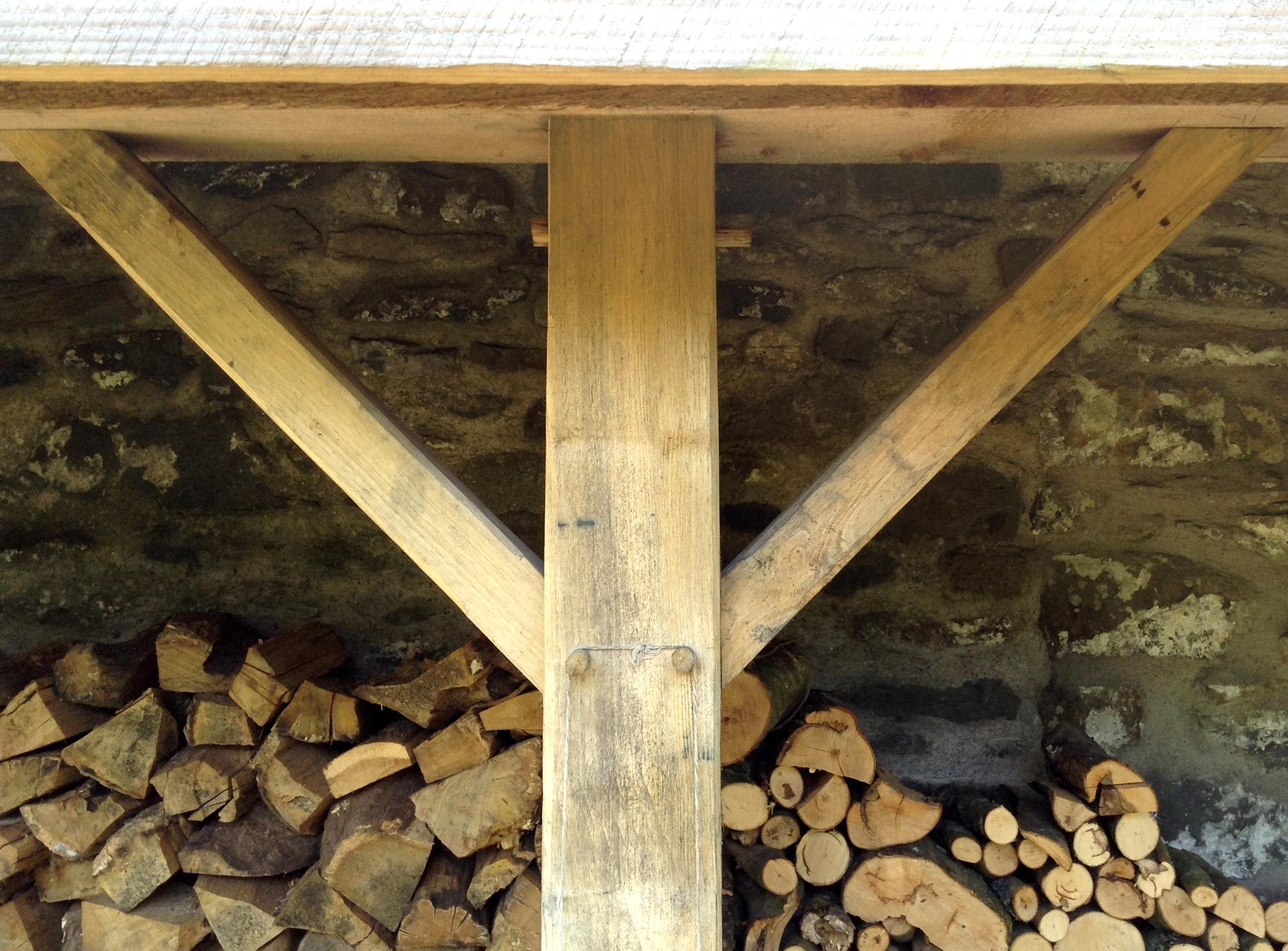 Firewood barn detail.