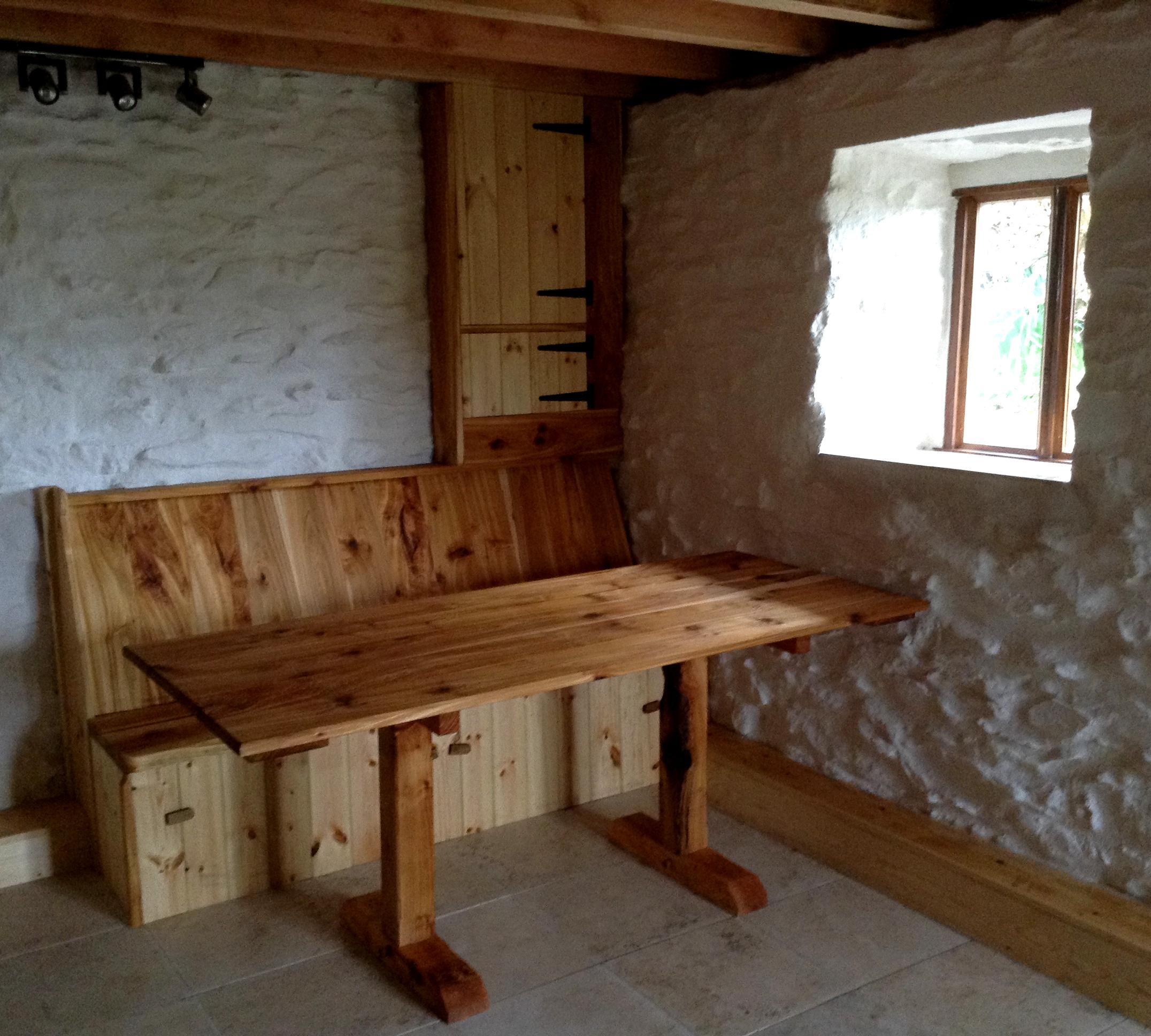 Campsite kitchen barn conversion.