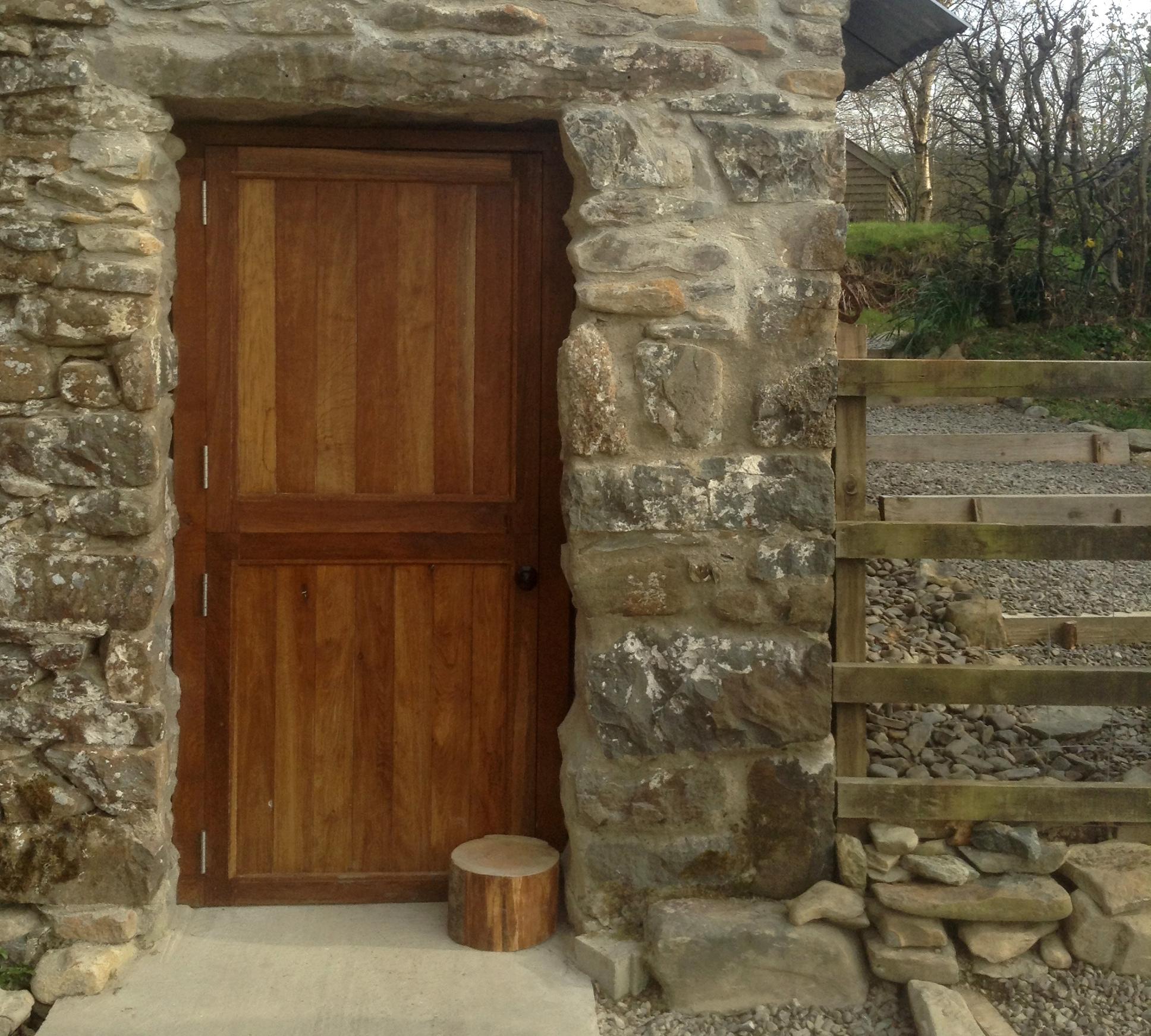 Oak stable door, Wales.